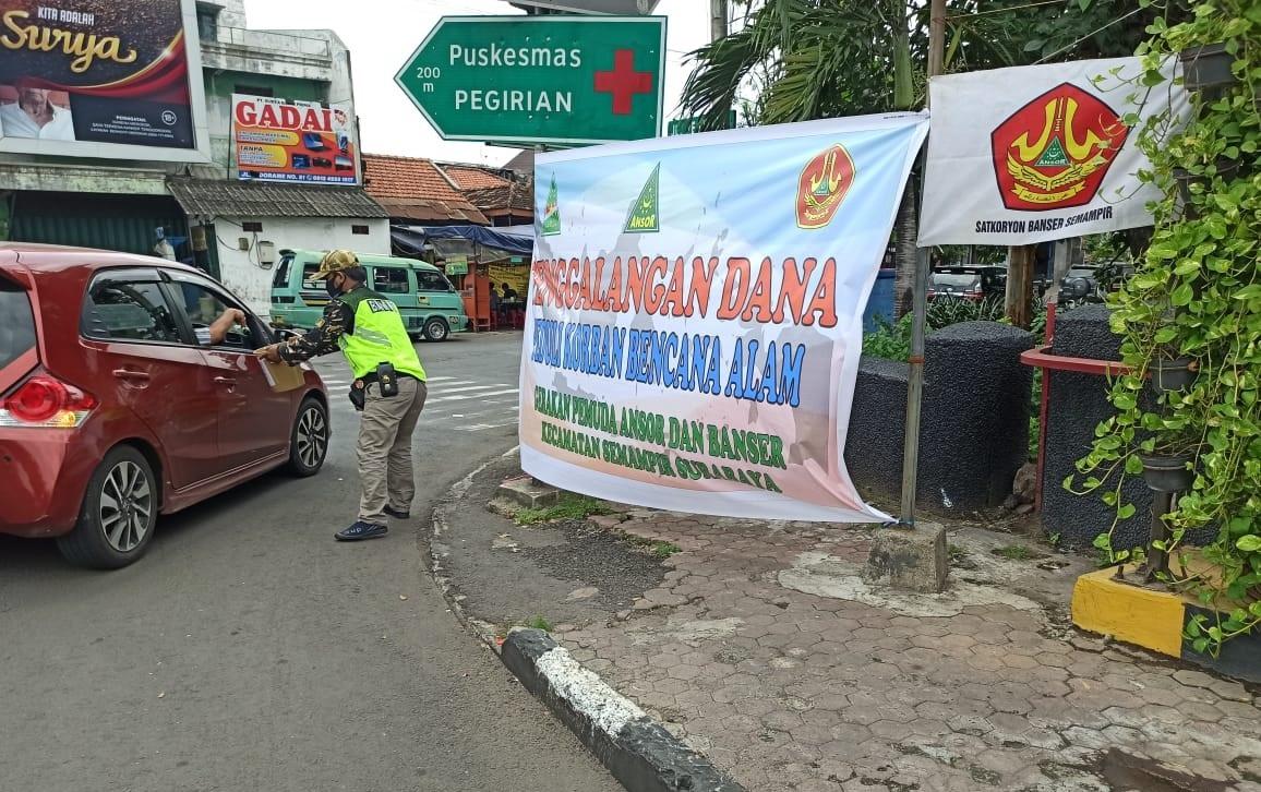 Peduli Korban Bencana Alam, Ansor-Banser di Surabaya Galang Dana Bantuan